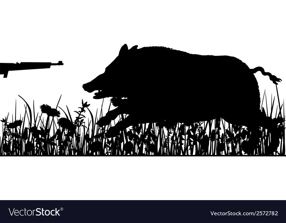 Boar hunting vector | Price: 1 Credit (USD $1)