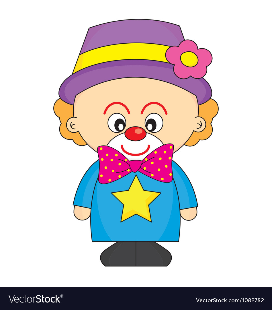 Child dressed as a clown vector | Price: 1 Credit (USD $1)