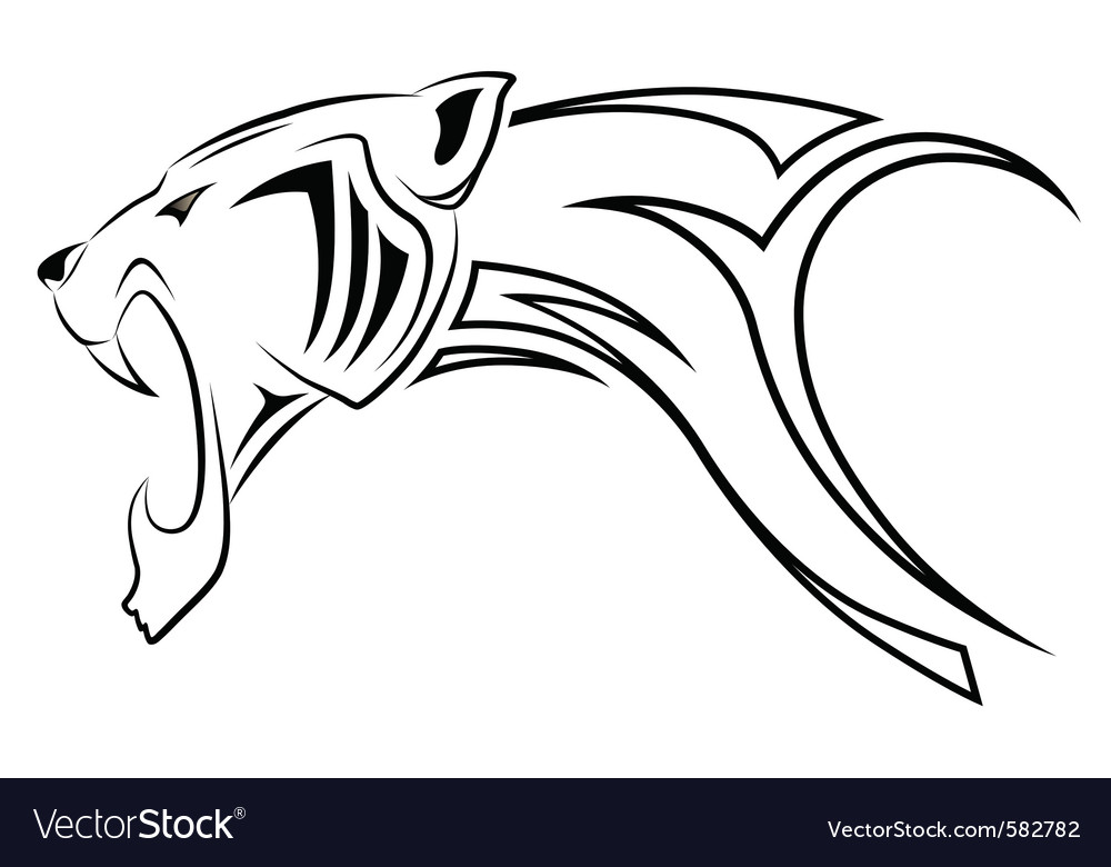 Leopard tribal tattoo vector | Price: 1 Credit (USD $1)