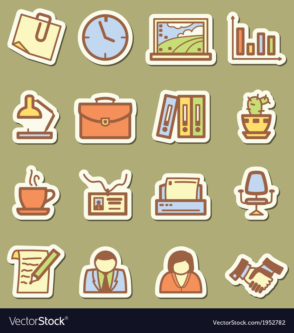 Offise icons vector