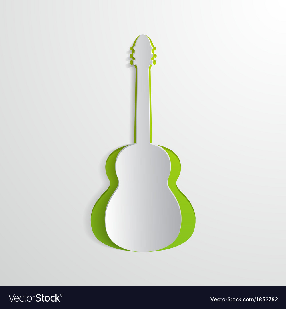 Paper guitar vector | Price: 1 Credit (USD $1)