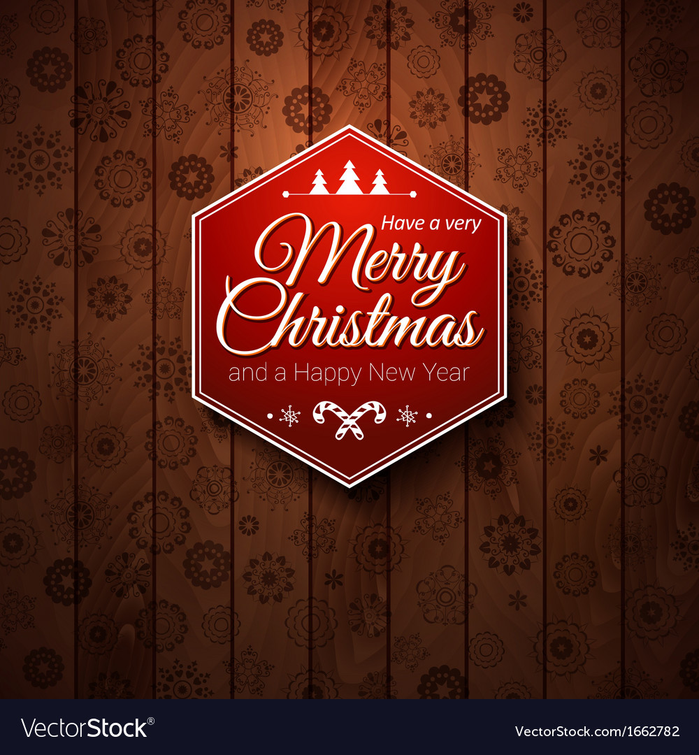 Typographic label merry christmas and happy new vector | Price: 1 Credit (USD $1)