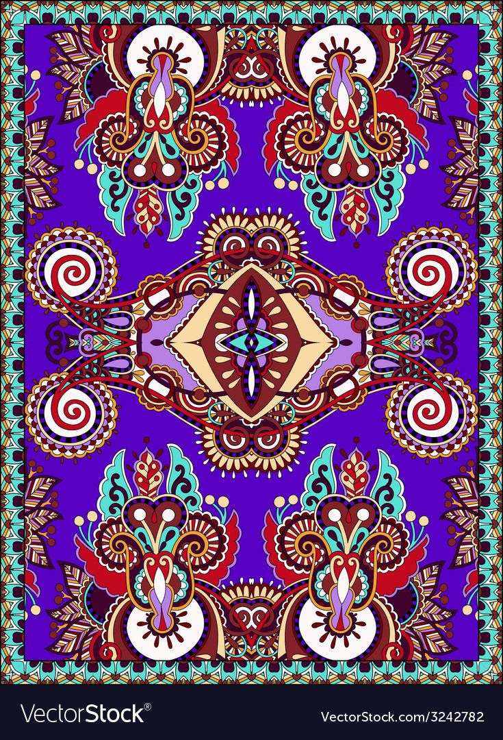Violet colour ukrainian floral carpet design for vector | Price: 1 Credit (USD $1)