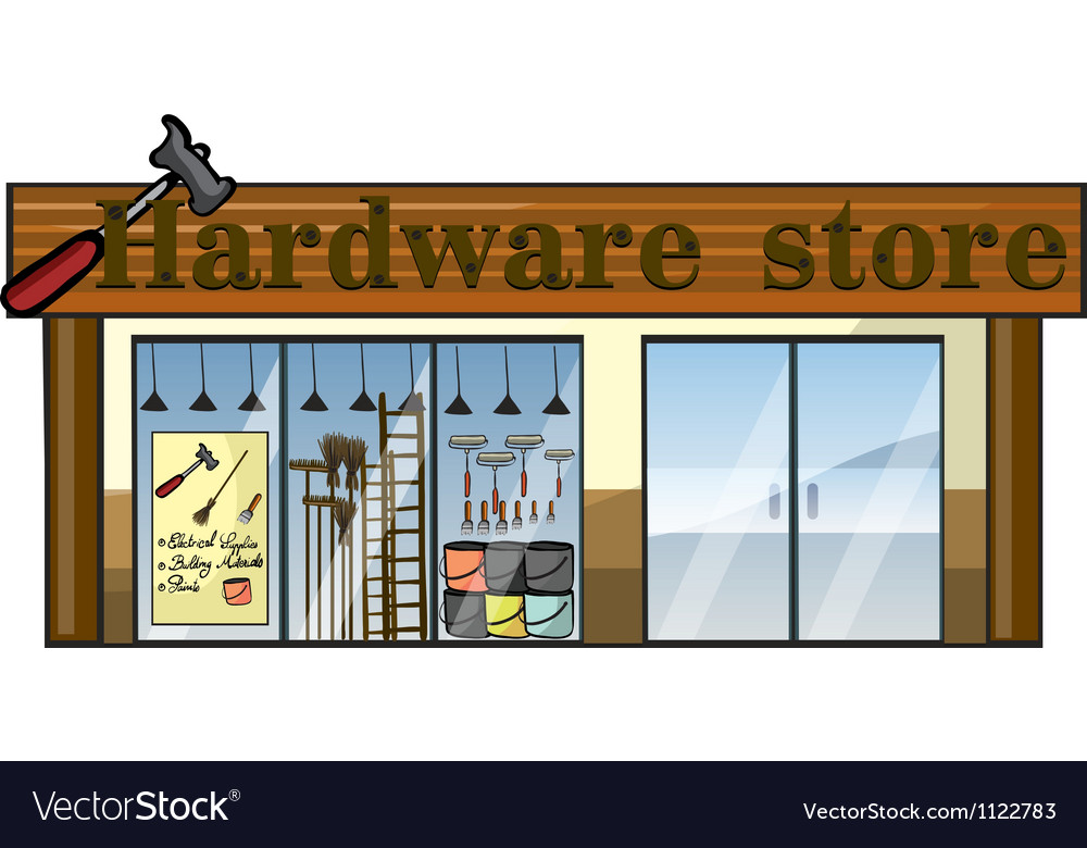 A hardware store vector | Price: 1 Credit (USD $1)