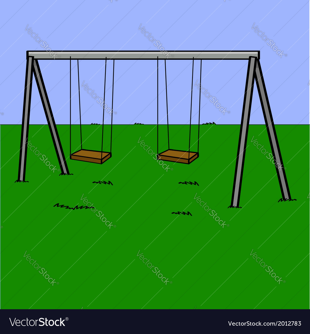 Abandoned swing set vector | Price: 1 Credit (USD $1)