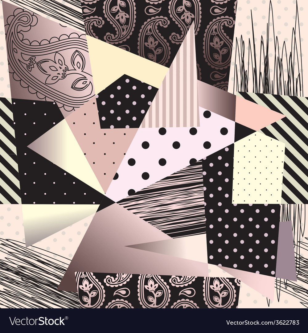 Abstract geometric background in cubism style vector | Price: 1 Credit (USD $1)