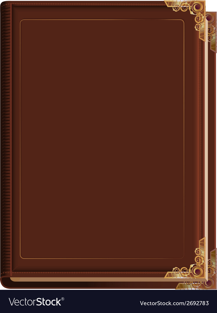 Brown closed book vector | Price: 1 Credit (USD $1)