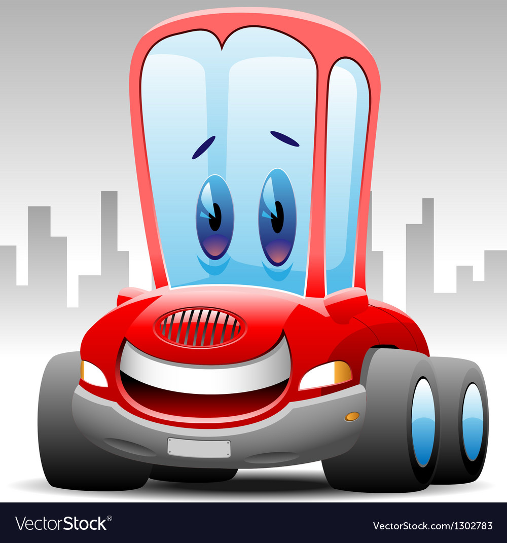 Cheerful red car vector | Price: 3 Credit (USD $3)