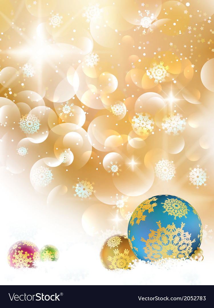 Christmas background with baubles and copyspace vector | Price: 1 Credit (USD $1)