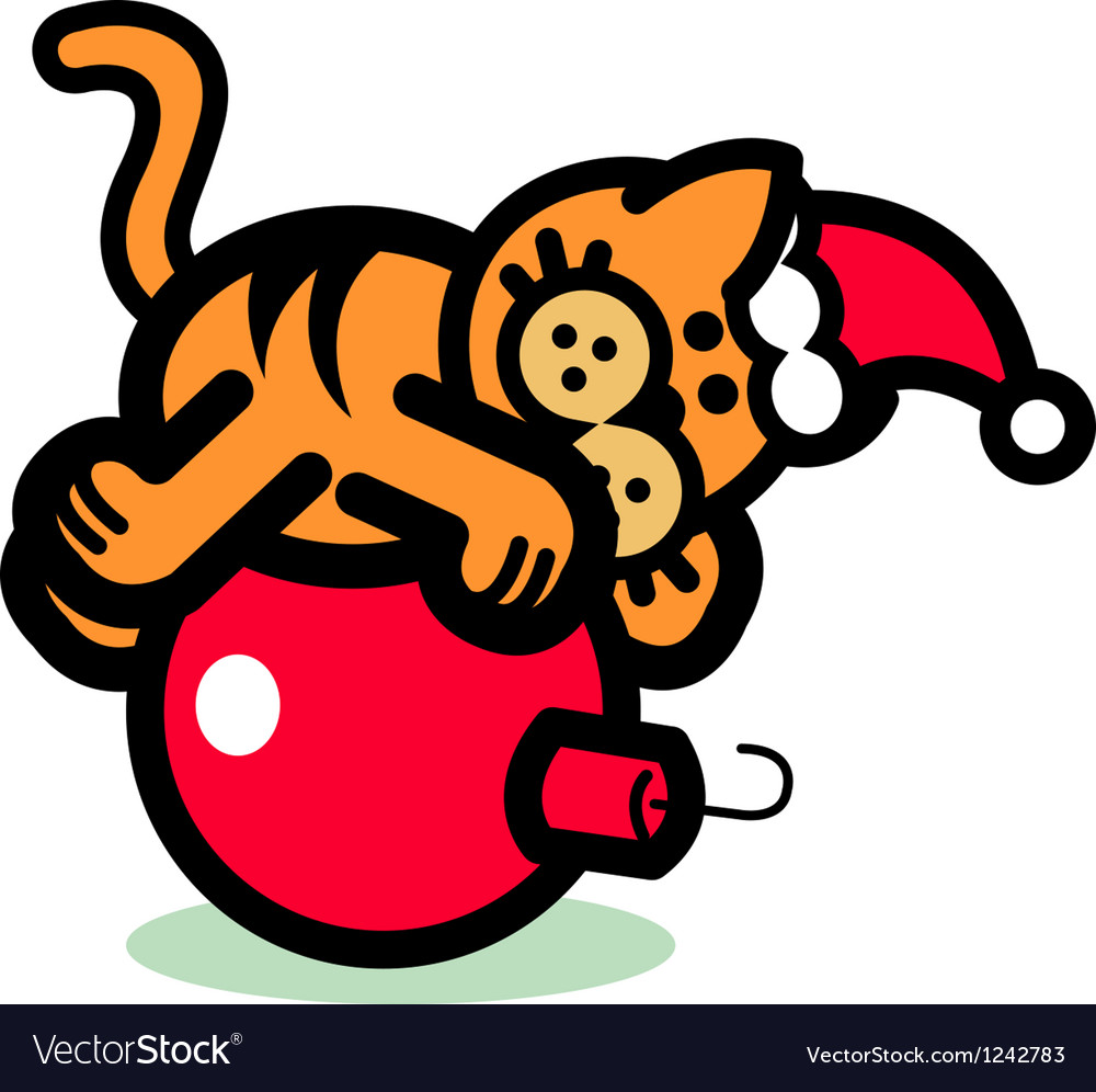 Fun cartoon cat vector | Price: 1 Credit (USD $1)