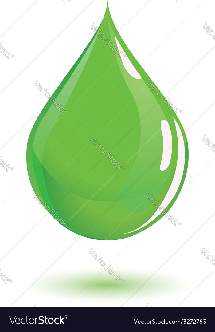 Green drop of poison or chemical vector | Price: 1 Credit (USD $1)