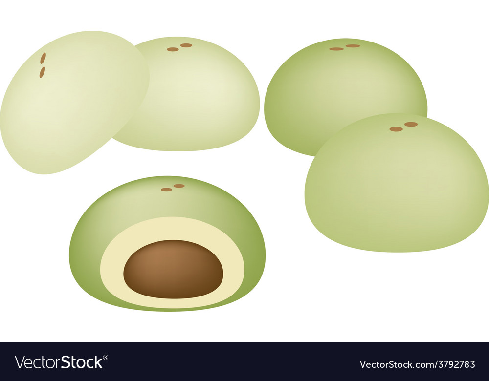 Japanese dessert of mochi or japanese rice cake vector | Price: 1 Credit (USD $1)