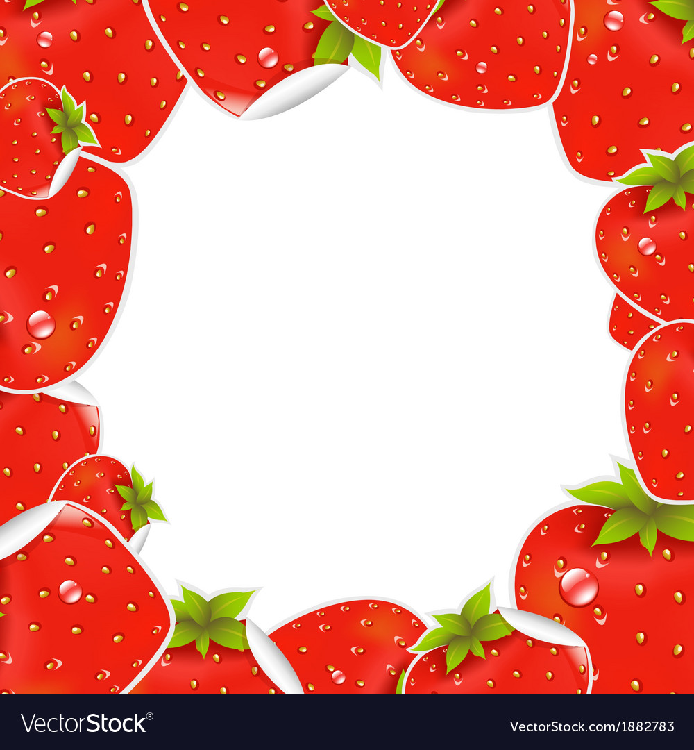 Label strawberry frame vector | Price: 1 Credit (USD $1)