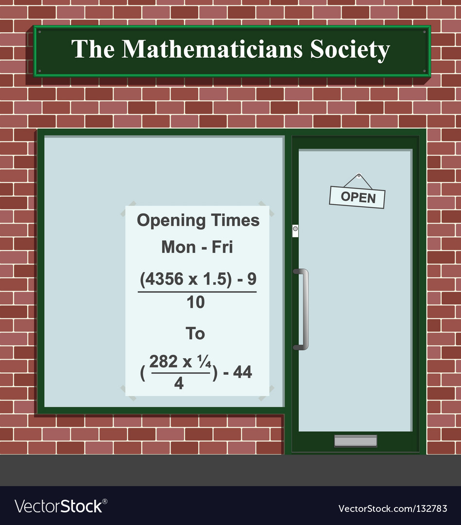 Mathematicians society vector | Price: 1 Credit (USD $1)