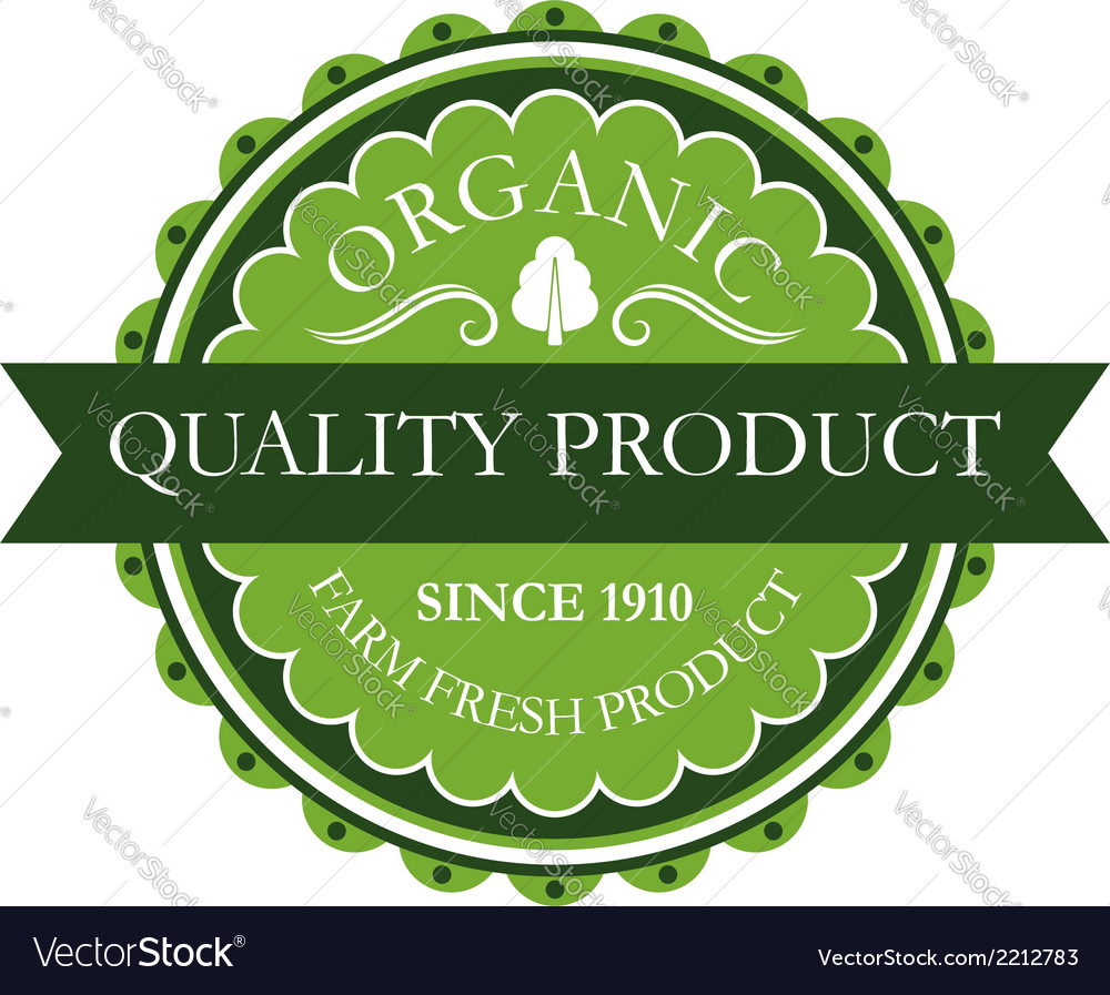 Organic label for farm fresh products vector | Price: 1 Credit (USD $1)