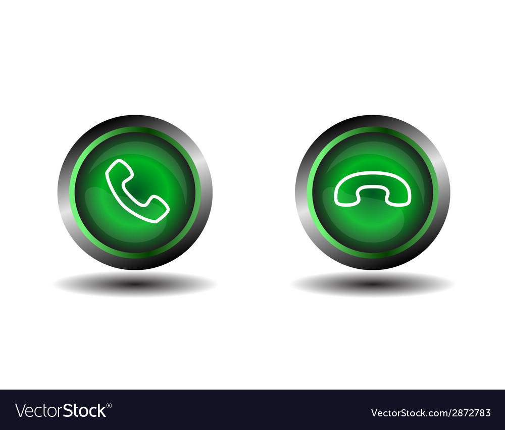 Phone icon contact button vector