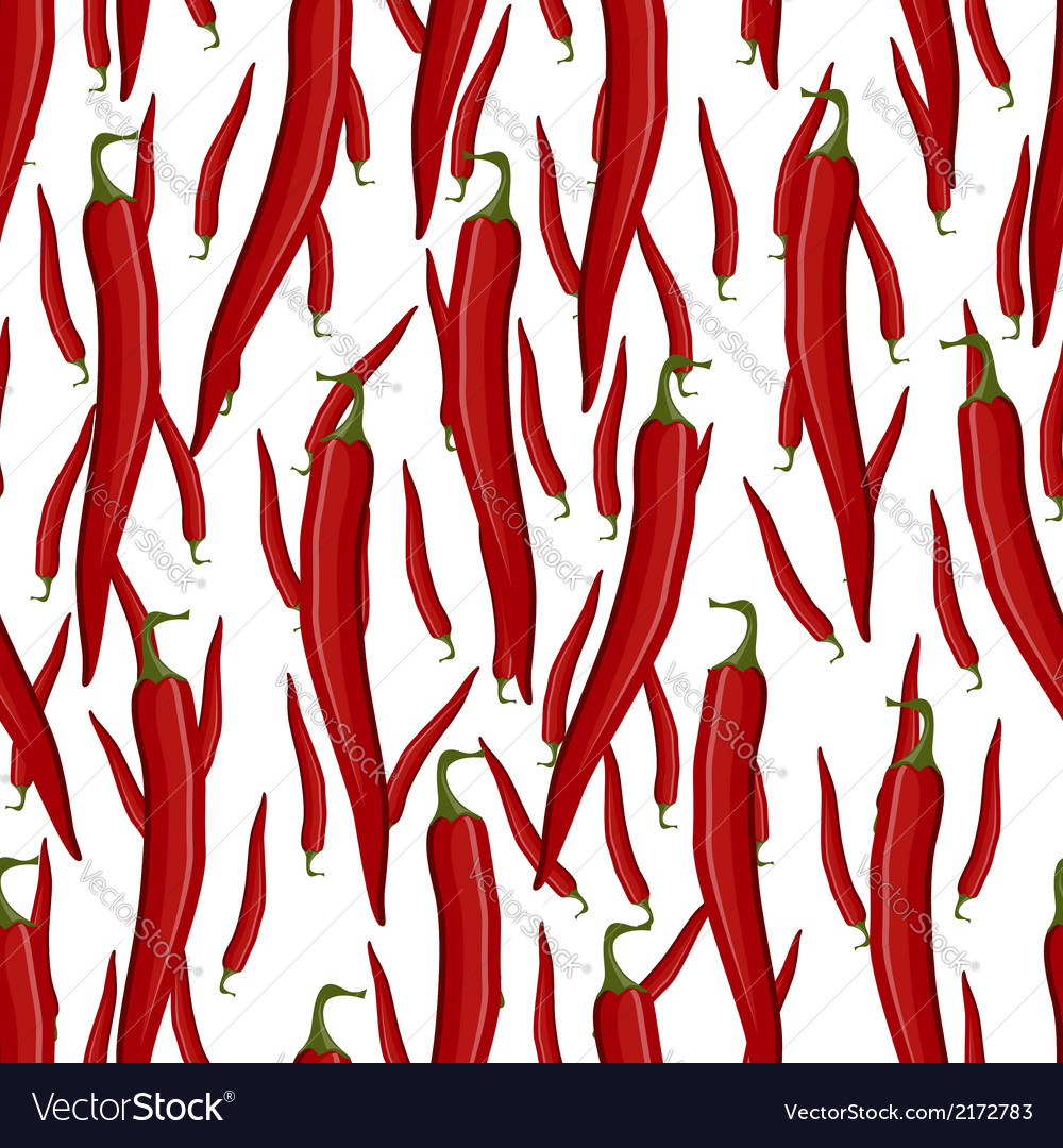 Red hot chili pepper seamless pattern vector | Price: 1 Credit (USD $1)