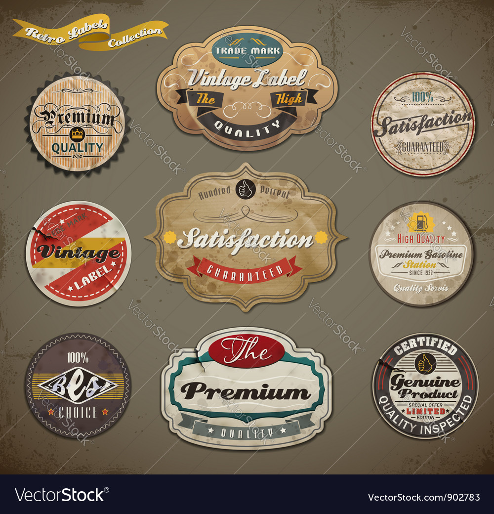 Vintage and retro labels vector | Price: 3 Credit (USD $3)