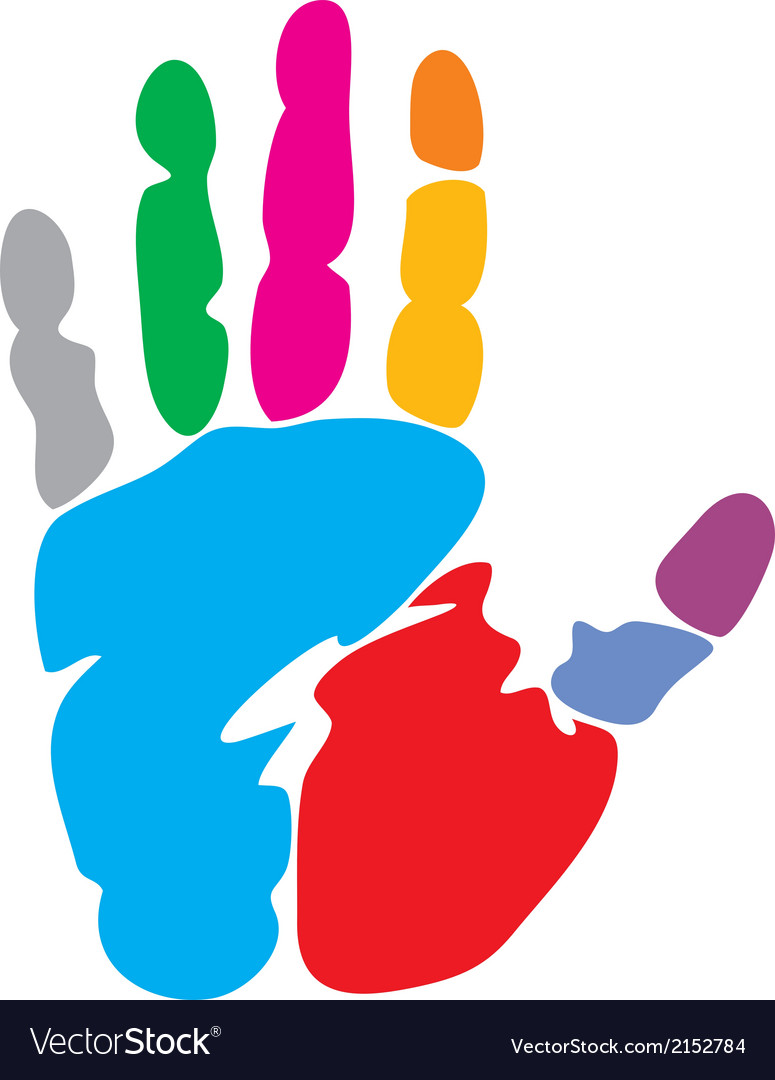 Colored hand print vector | Price: 1 Credit (USD $1)