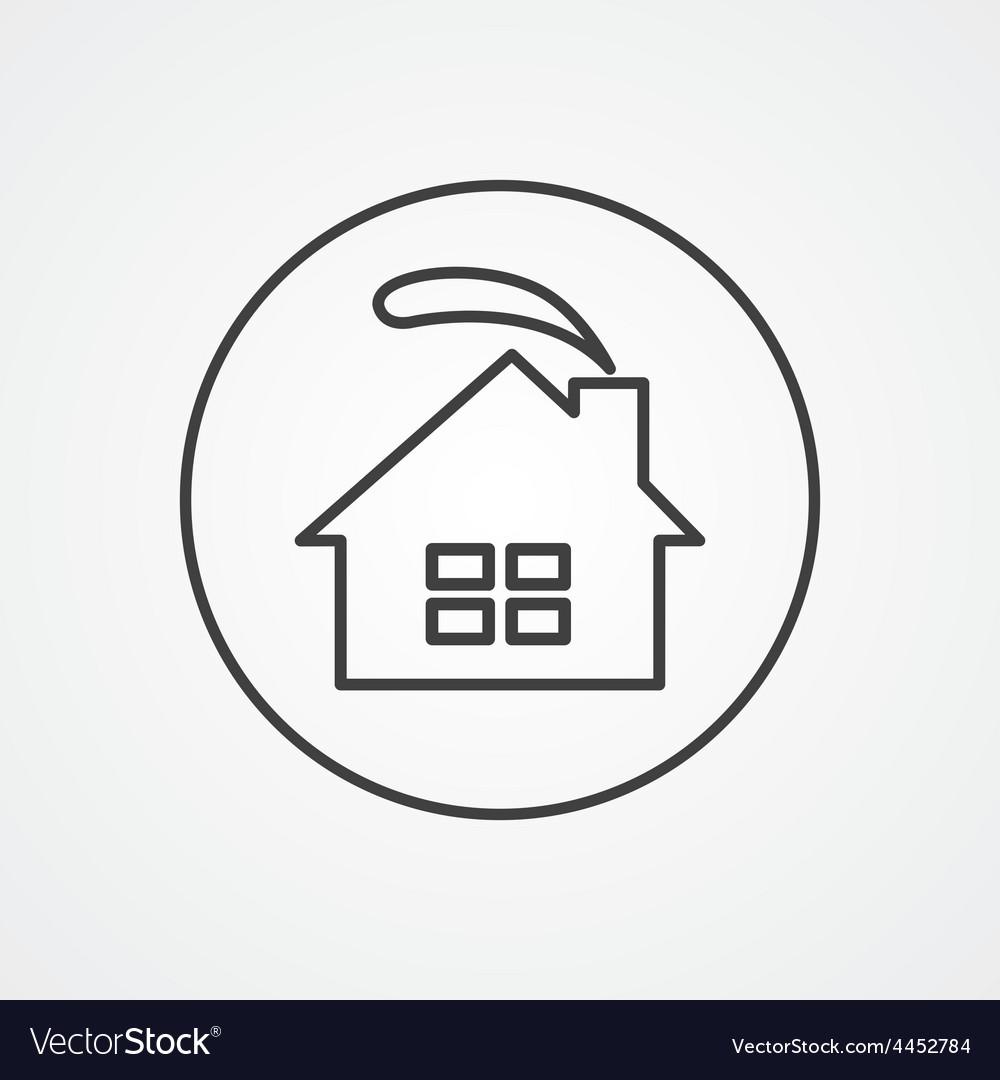 Cozy home outline symbol dark on white background vector | Price: 1 Credit (USD $1)