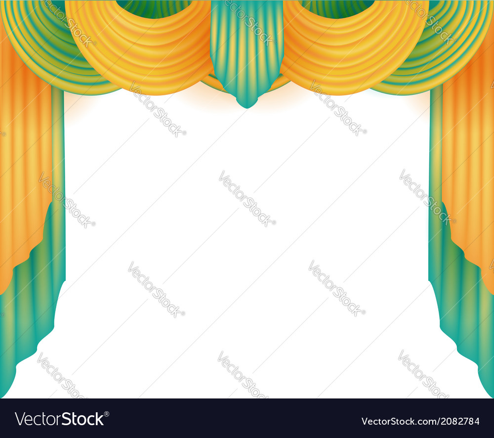 Curtain with a white background behind vector | Price: 1 Credit (USD $1)