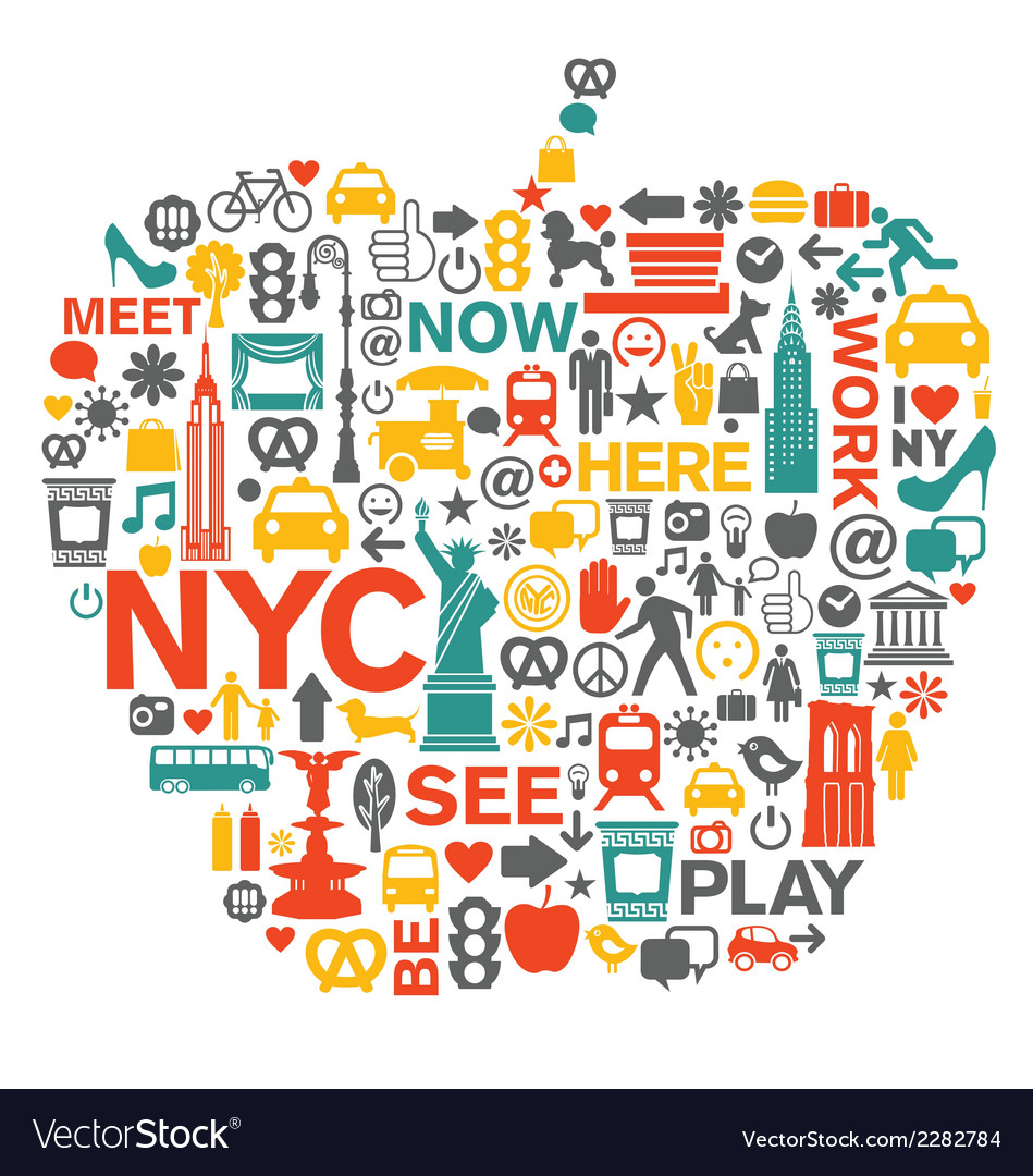 New york city icons and symbols vector | Price: 1 Credit (USD $1)