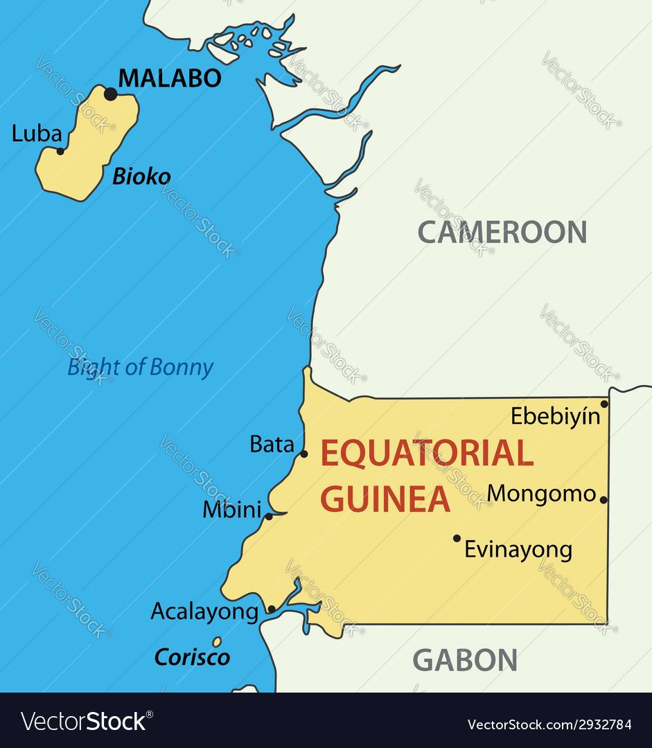 Republic of equatorial guinea - map vector | Price: 1 Credit (USD $1)