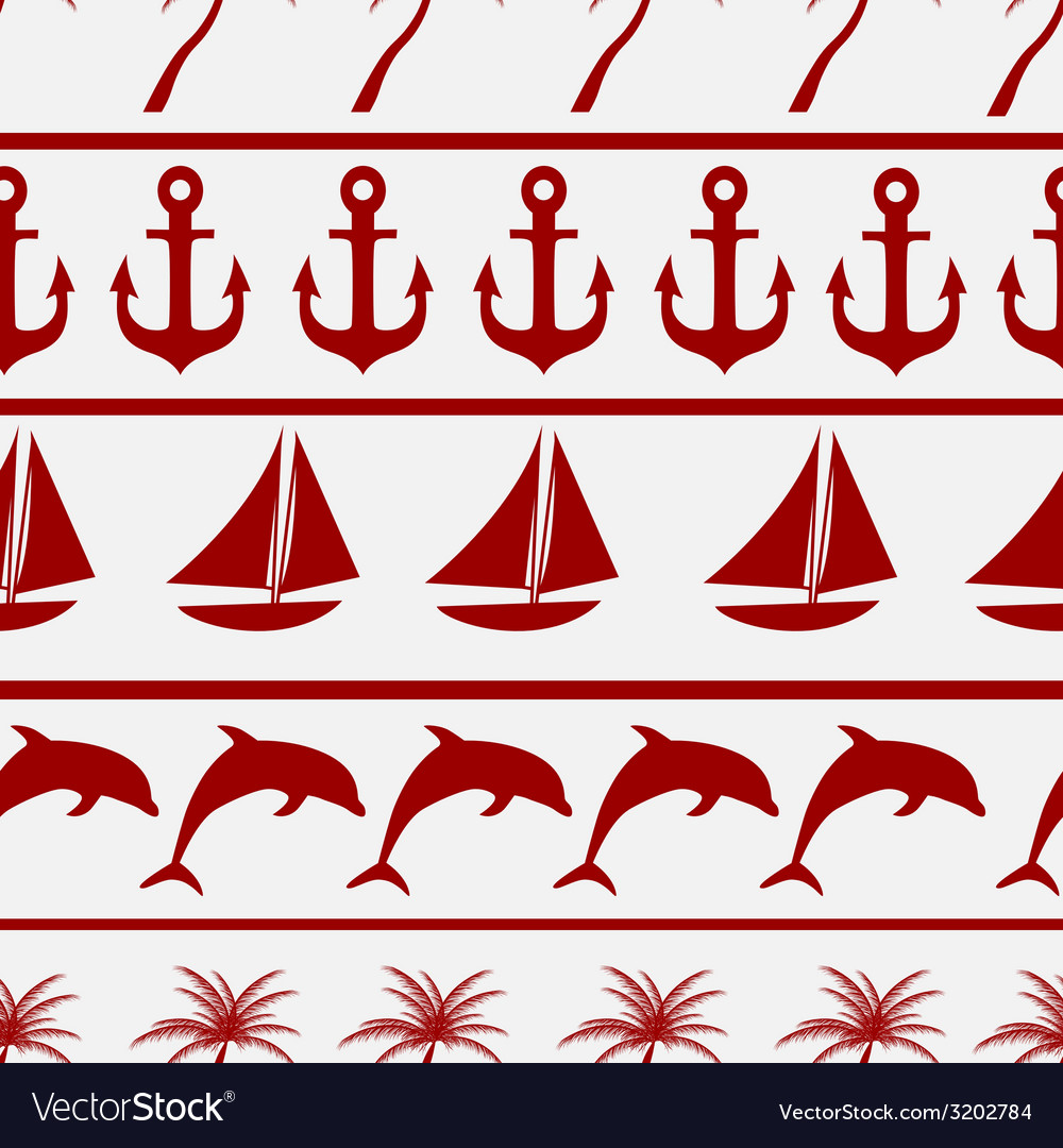 Sea seamless pattern background ilustration vector | Price: 1 Credit (USD $1)