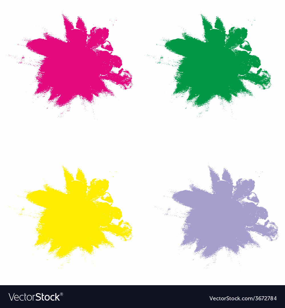 Splash in red green yellow and violet color vector | Price: 1 Credit (USD $1)
