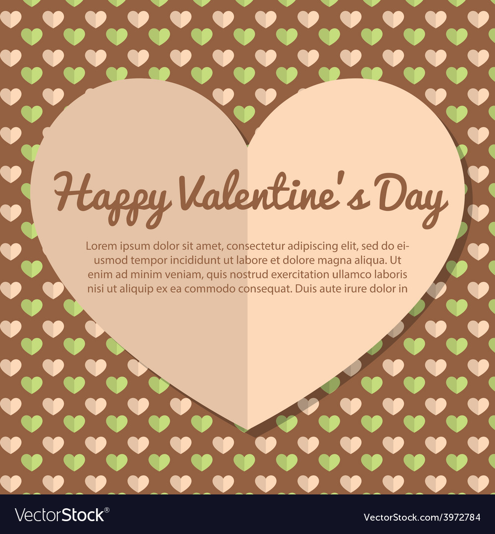 Template valentines day greeting card design vector | Price: 1 Credit (USD $1)