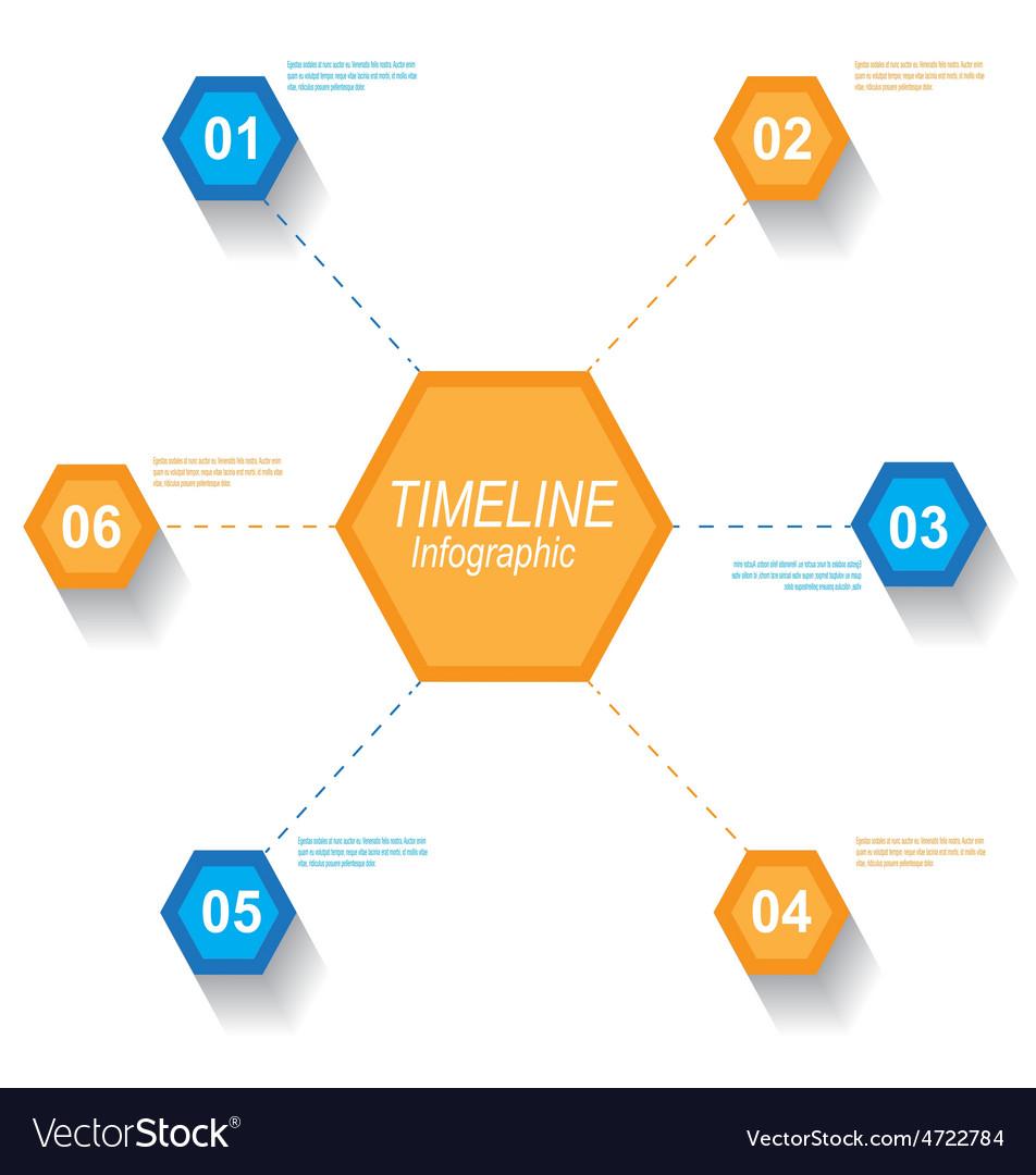 Timeline infographic element design vector | Price: 1 Credit (USD $1)
