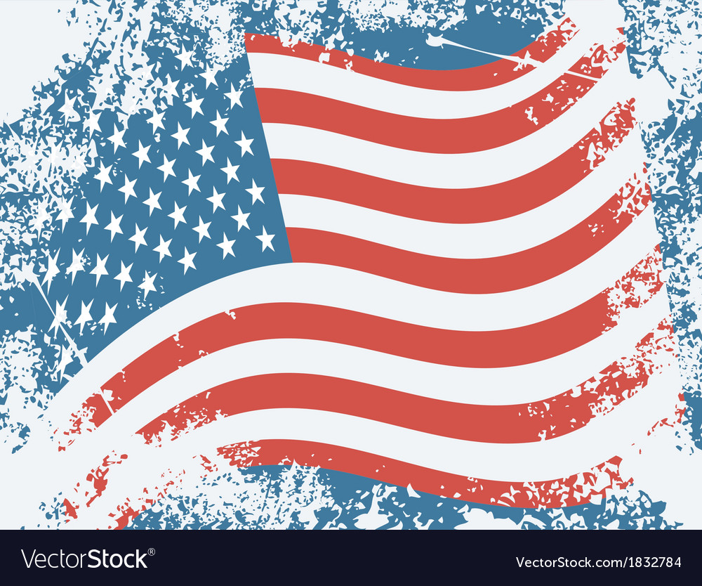 Usa grunge flag vector | Price: 1 Credit (USD $1)