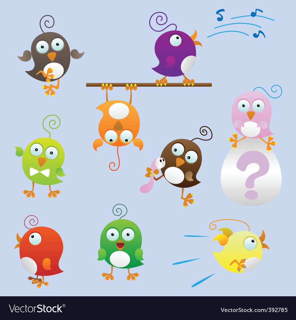 Cartoon birds vector | Price: 3 Credit (USD $3)