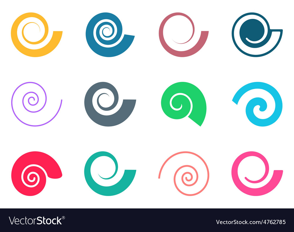 Colorful spiral icons vector | Price: 1 Credit (USD $1)