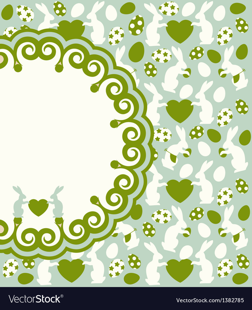 Easter bunny background vector | Price: 1 Credit (USD $1)