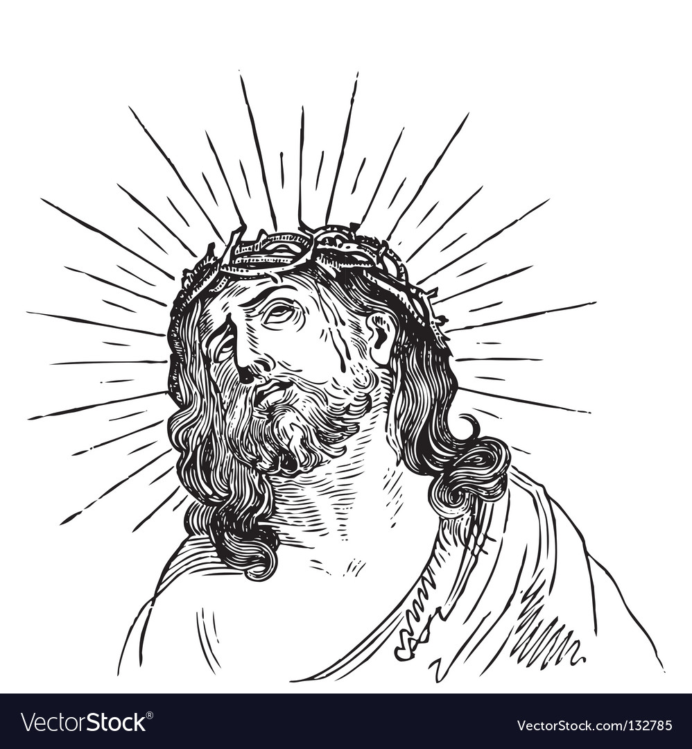 Jesus christ engraving vector | Price: 1 Credit (USD $1)