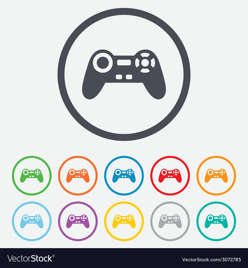 Joystick sign icon video game symbol vector | Price: 1 Credit (USD $1)