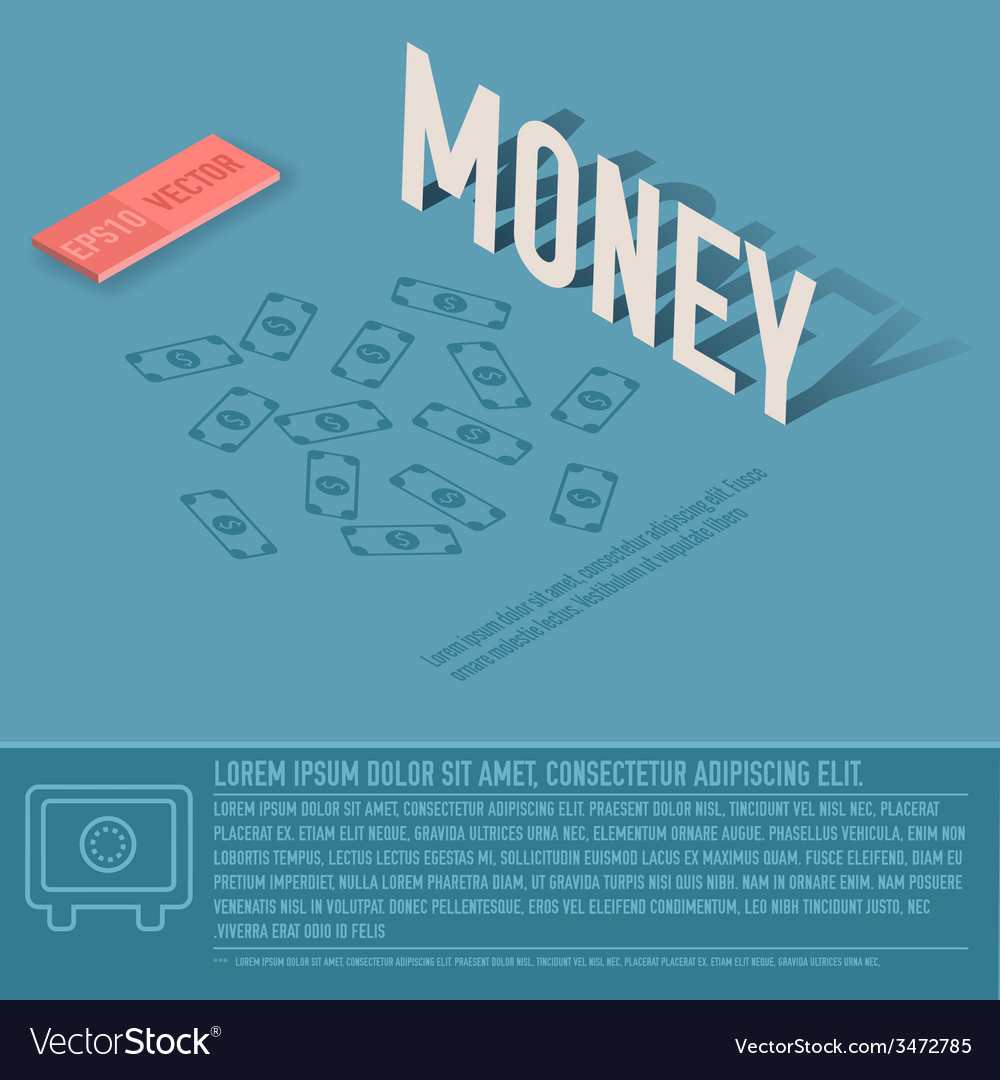 Money business background concept design vector | Price: 1 Credit (USD $1)