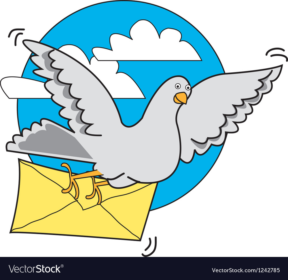 Pigeon carrier vector | Price: 1 Credit (USD $1)