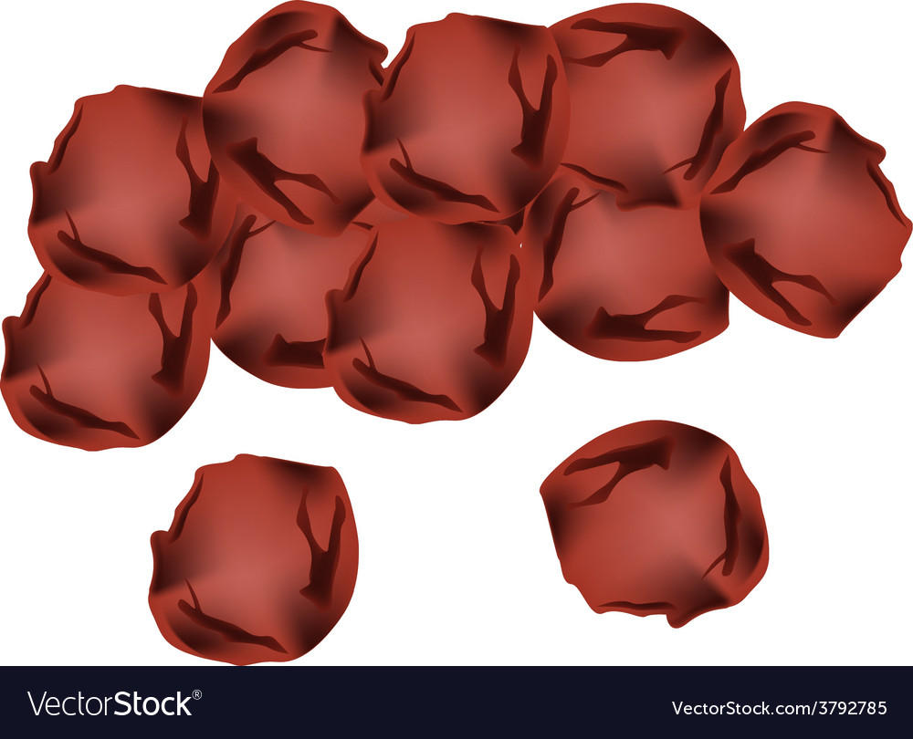 Pile of umeboshi or japanese salt plums vector | Price: 1 Credit (USD $1)