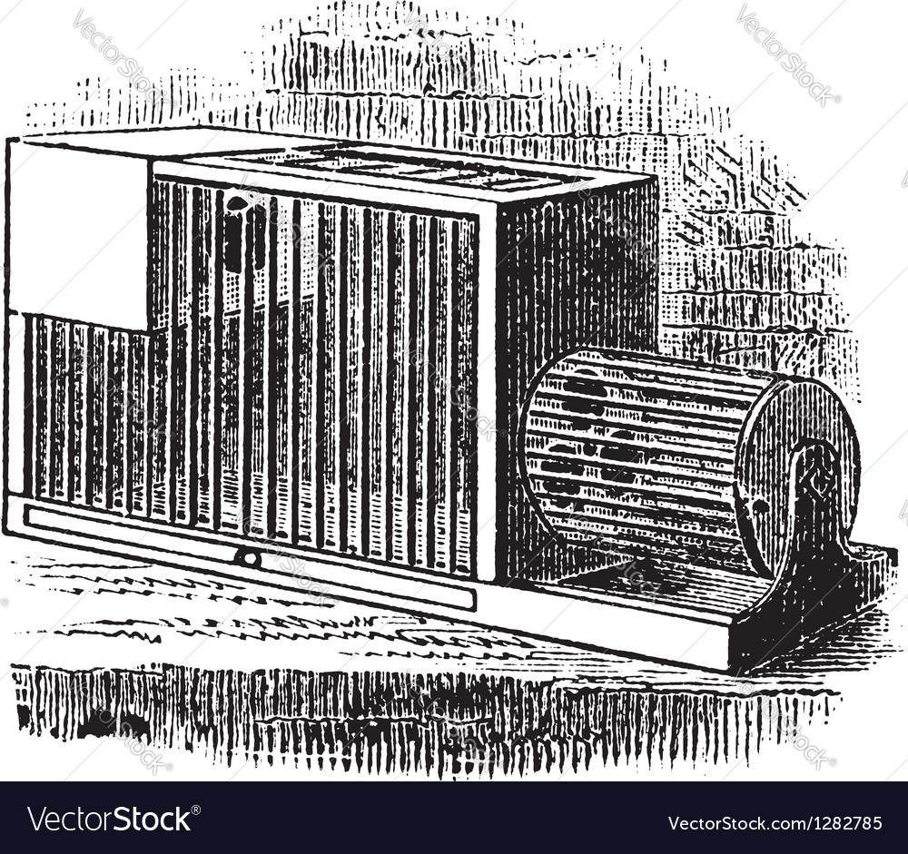Rat cage vintage engraving vector | Price: 1 Credit (USD $1)