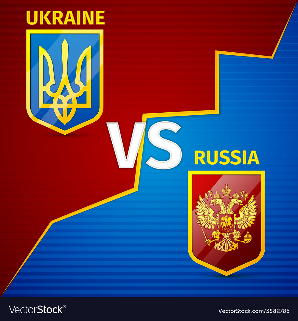 Ukraine vs russia vector | Price: 1 Credit (USD $1)