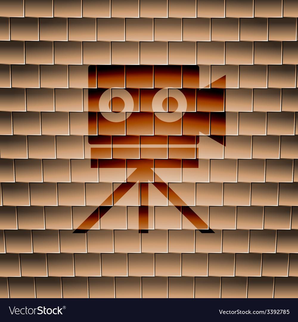 Video camera icon symbol flat modern web design vector | Price: 1 Credit (USD $1)