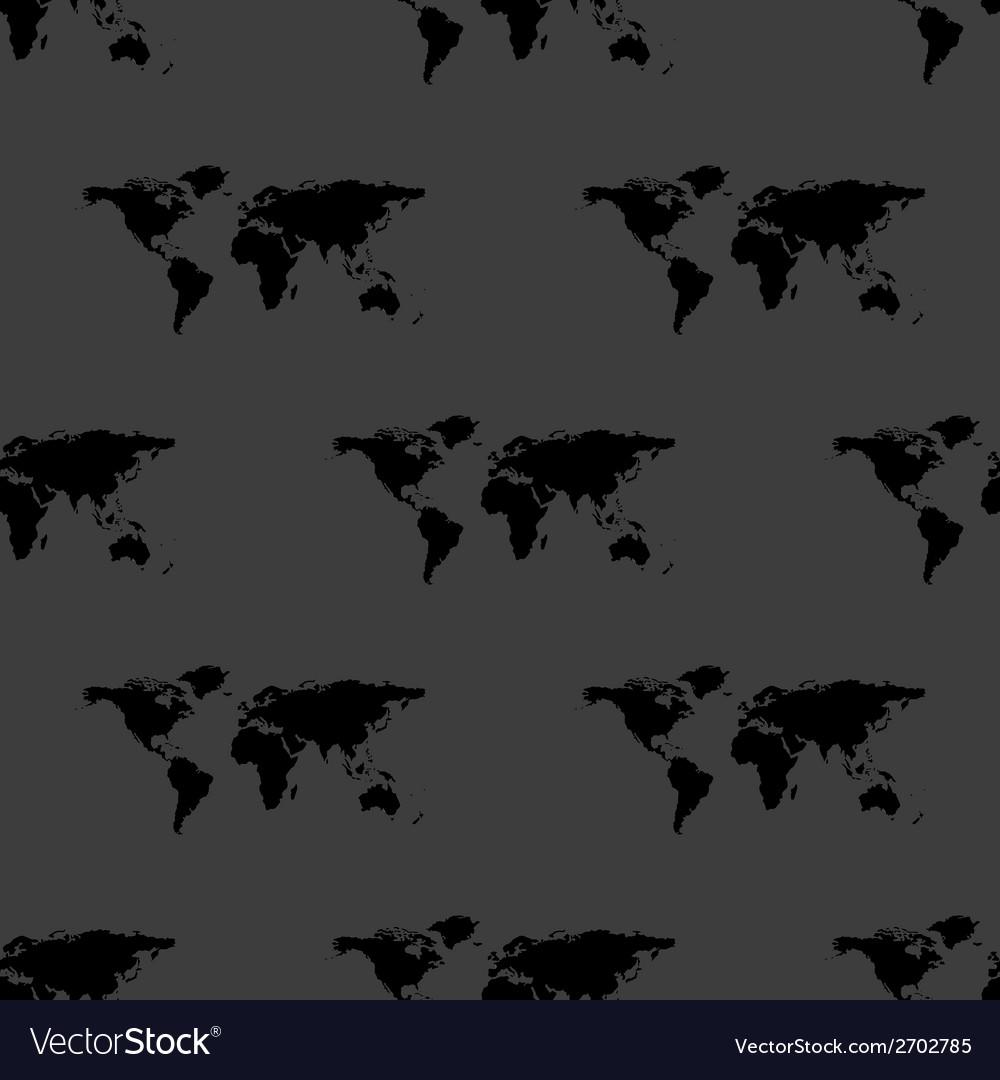 World map web icon flat design seamless gray vector   Price: 1 Credit (USD $1)