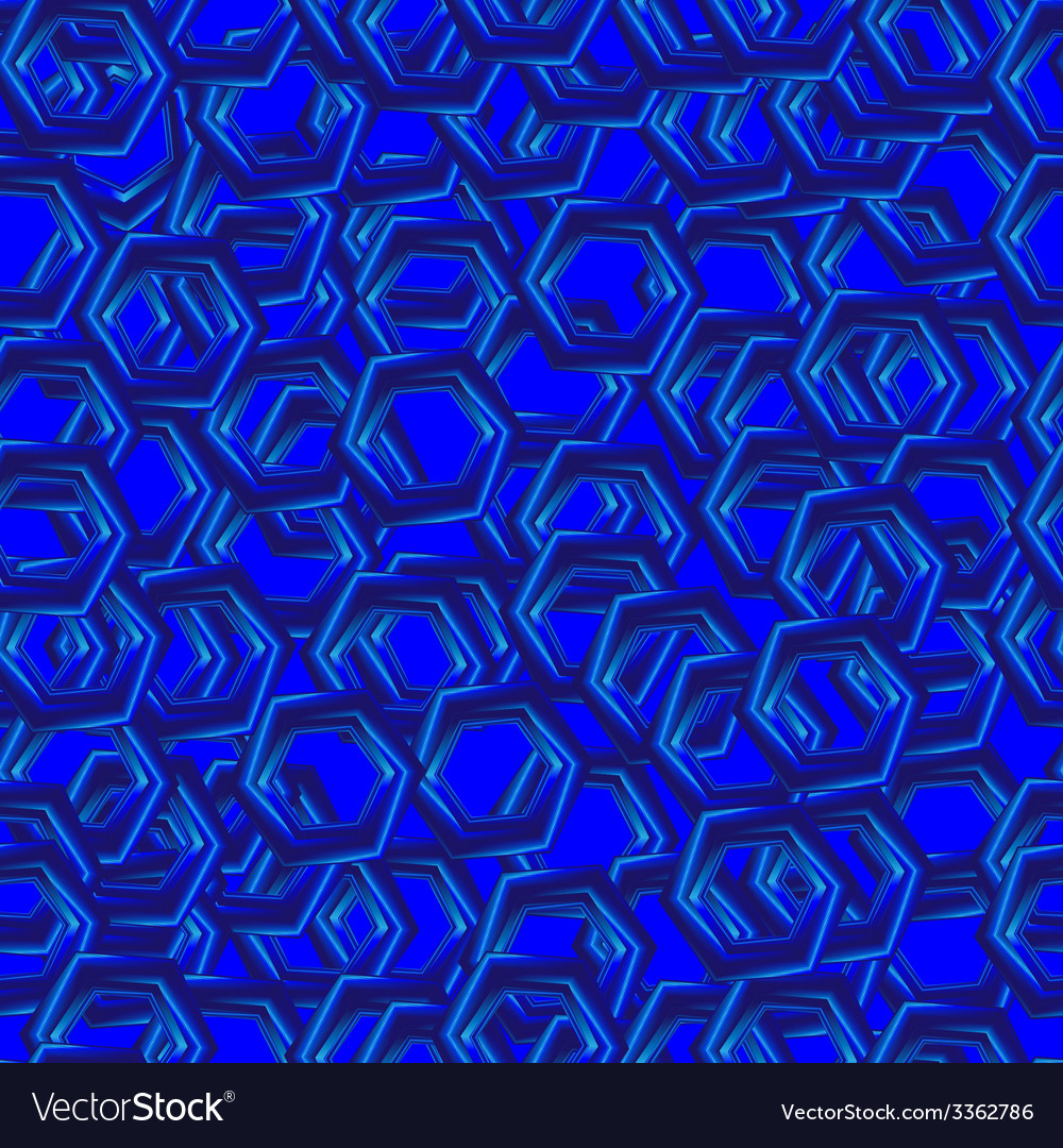 Abstract seamless pattern with blue hexagons vector | Price: 1 Credit (USD $1)