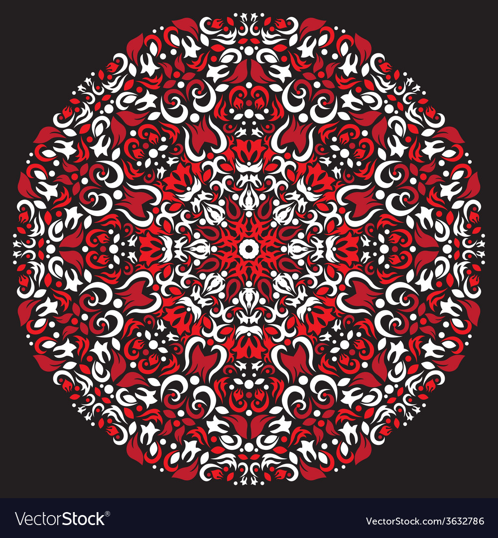 Circular pattern red white color vector | Price: 1 Credit (USD $1)
