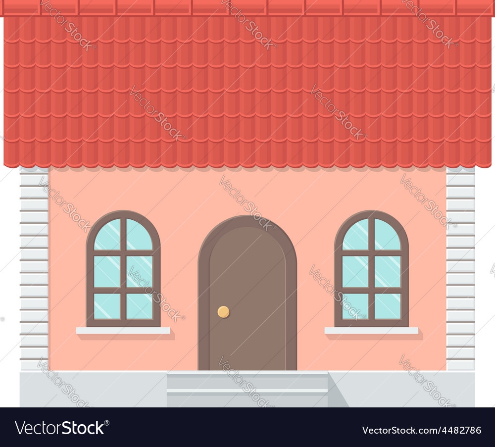 Cottage with a tiled roof vector | Price: 1 Credit (USD $1)