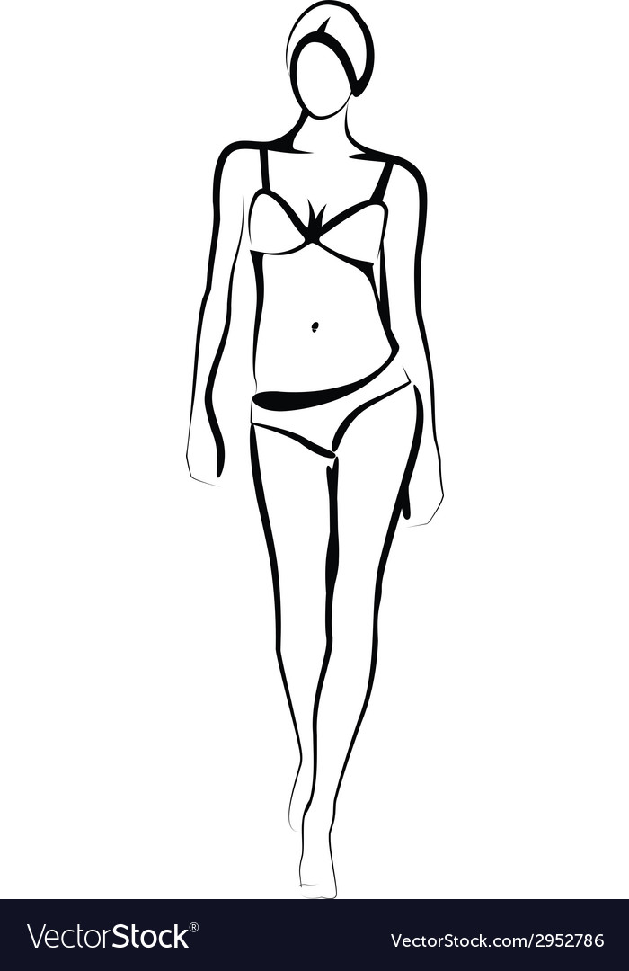 Female model vector | Price: 1 Credit (USD $1)
