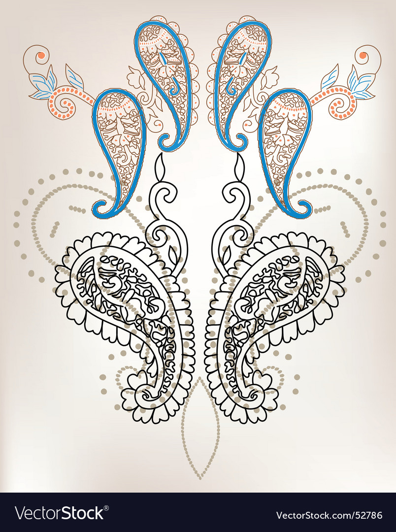 Floral vintage vector | Price: 1 Credit (USD $1)