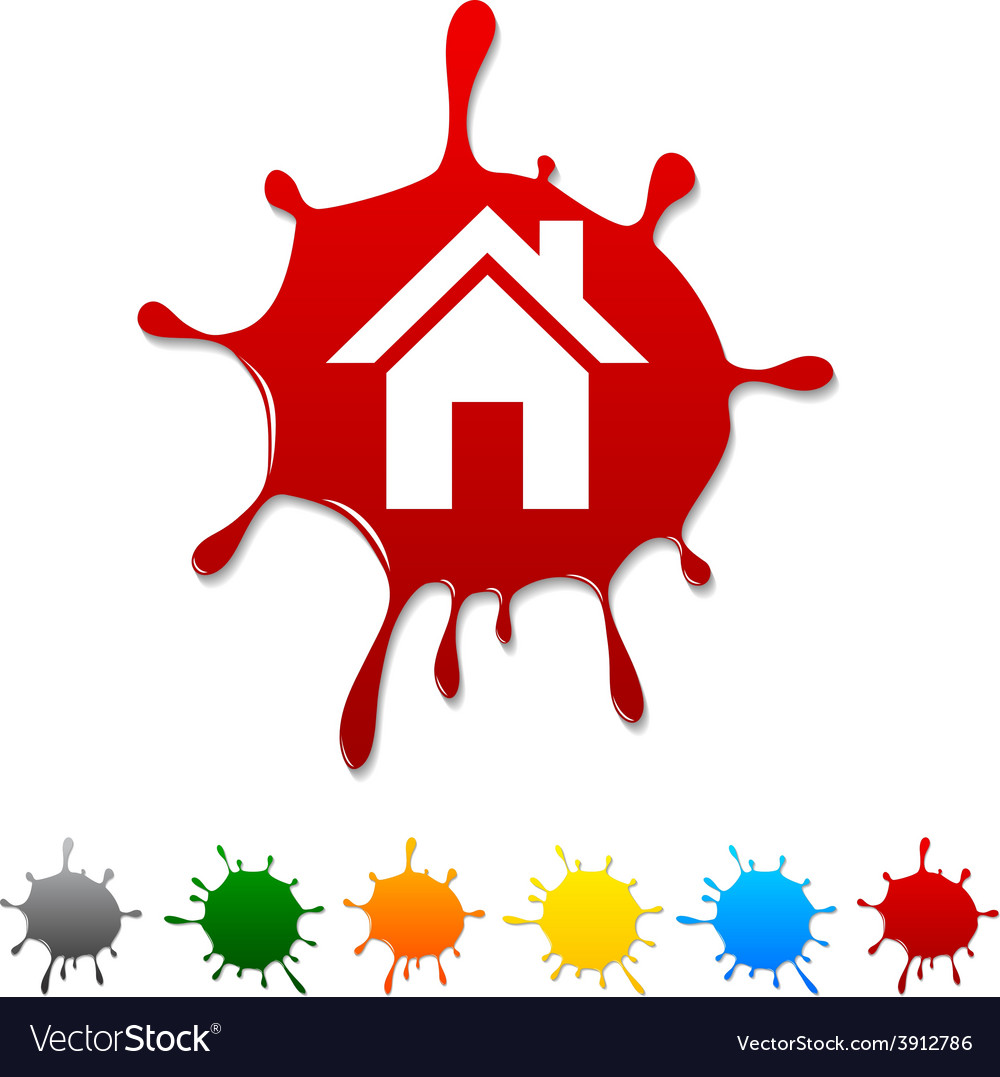 Home blot vector | Price: 1 Credit (USD $1)